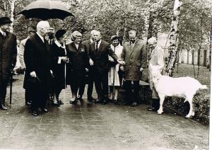 Heinrich Lübke zu Gast im Tierheim Lankwitz