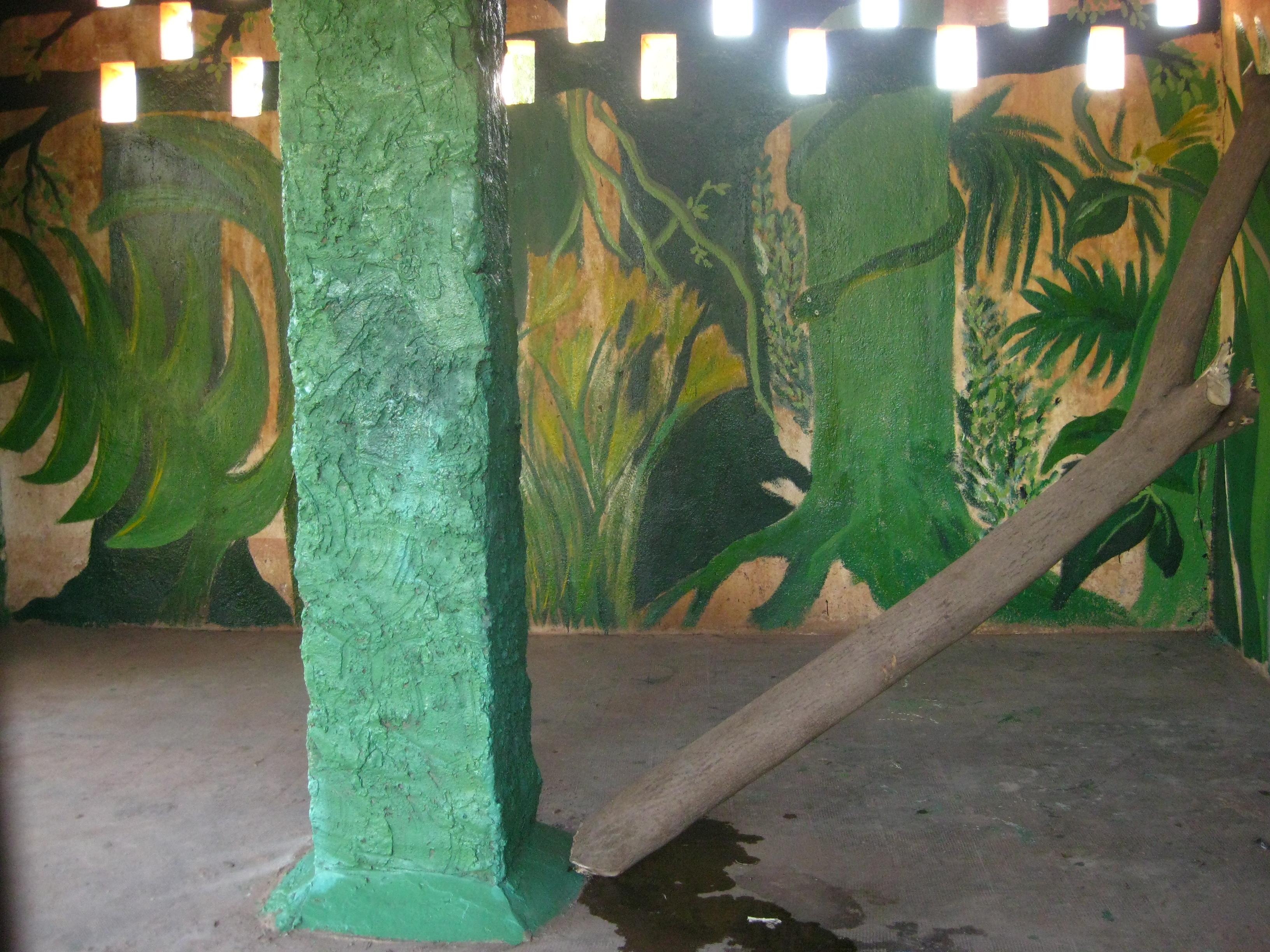 Der neu gestrichene Käfig